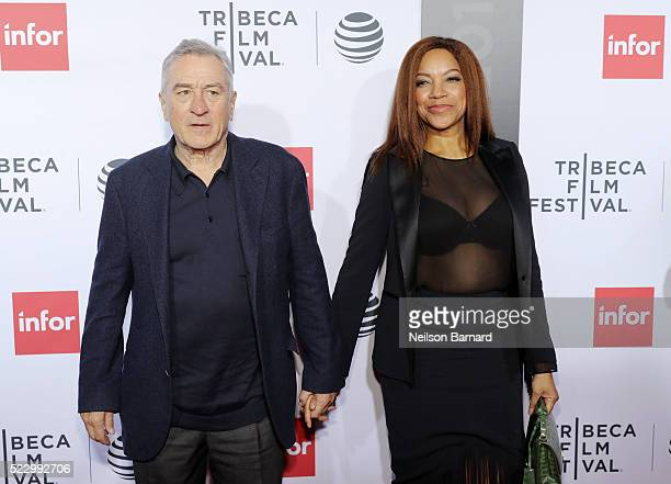 Robert De Niro and Grace Hightower attend the Taxi Driver 40th Anniversary Celebration during the 2016 Tribeca Film Festival at The Beacon Theatre on...