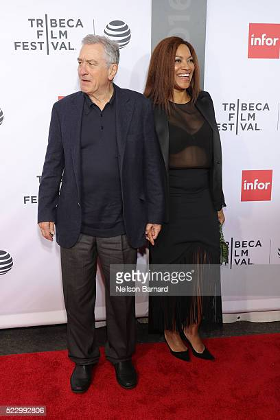 Robert De Niro and Grace Hightower attend the 'Taxi Driver' 40th Anniversary Celebration during the 2016 Tribeca Film Festival at The Beacon Theatre...