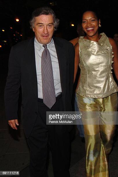Robert De Niro and Grace Hightower attend Vanity Fair hosts their Tribeca Film Festival dinner at The State Supreme Courthouse on April 20 2005 in...