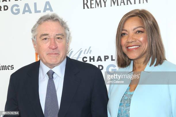 Robert De Niro and Grace Hightower De Niro attend the 44th Chaplin Award Gala at David Koch Theatre Lincoln Center on May 8 2017 in New York City