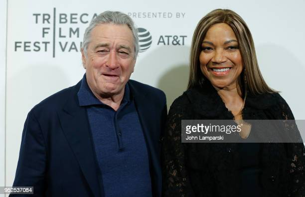 Robert De Niro and Grace Hightower De Niro attends 2018 Tribeca Film Festival closing night screening of The Fourth Estate at BMCC Tribeca PAC on...