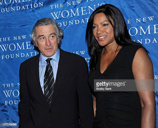 Robert De Niro and Grace Hightower De Niro attends the The New York Women's Foundation 'Stepping Out Stepping Up' Dinner at Gotham Hall on December 1...