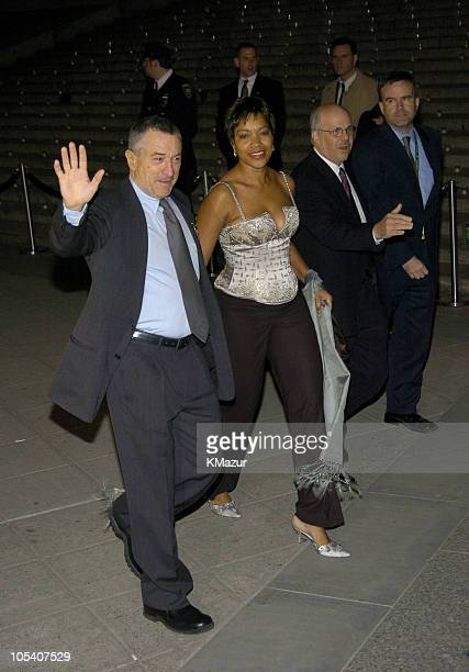 Robert De Niro and Grace Hightower during 3rd Annual Tribeca Film Festival Vanity Fair Party Arrivals at Amex Lobby in New York City New York United...