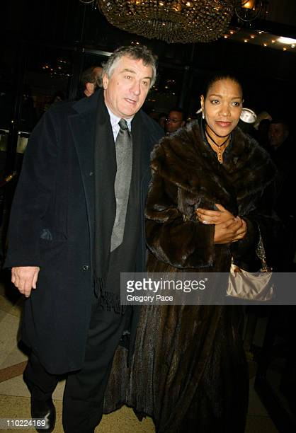 Robert De Niro and Grace Hightower during 'Raging Bull' 25th Anniversary and Collector's Edition DVD Release Celebration Inside Arrivals at Ziegfeld...