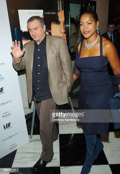 Robert De Niro and Grace Hightower during Stage Beauty New York Premiere Inside Arrivals at Paris Theater in New York City New York