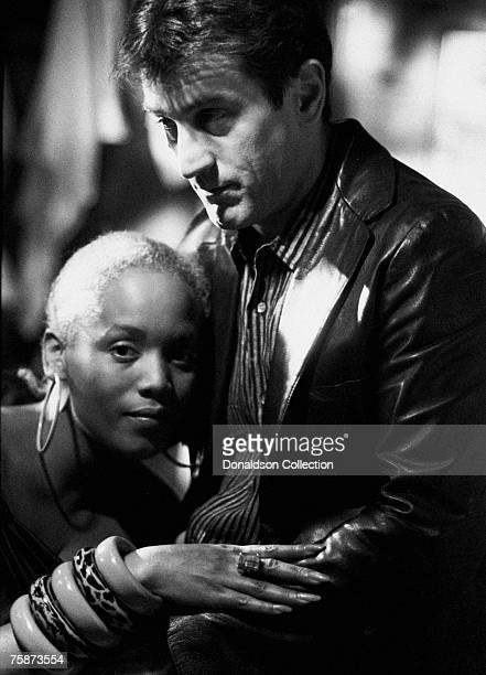 Robert De Niro and his girlfriend Toukie Smith pose at a party in a restaurant in New York