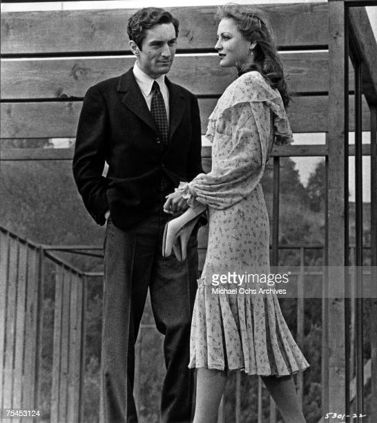 Robert De Niro and Ingrid Boulting perform a scene in The Last Tycoon directed by Elia Kazan in 1976 in Hollywood California