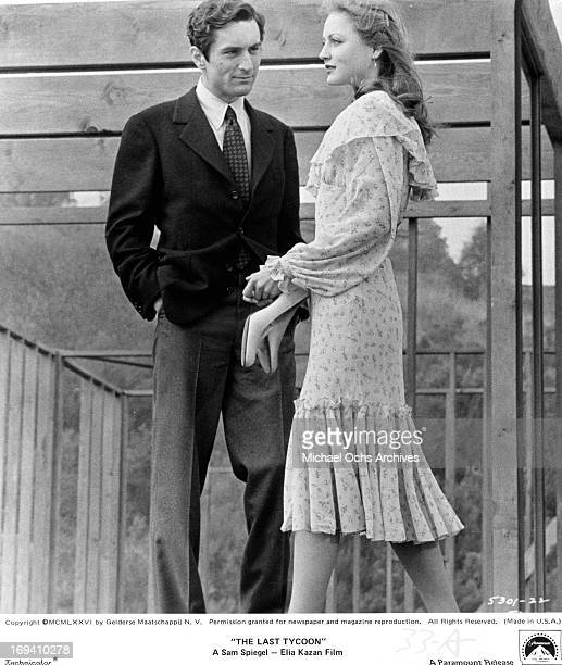 Robert De Niro and Ingrid Boulting standing in house under construction in a scene from the film 'The Last Tycoon' 1976