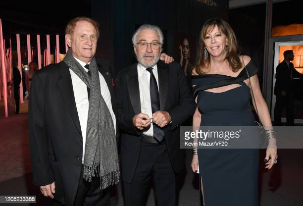 Robert De Niro and Jane Rosenthal attend the 2020 Vanity Fair Oscar Party hosted by Radhika Jones at Wallis Annenberg Center for the Performing Arts...