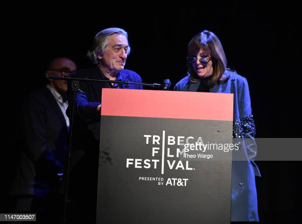 """Robert De Niro and Jane Rosenthal attend """"Yesterday"""" Closing Night Gala Film - 2019 Tribeca Film Festival at BMCC Tribeca PAC on May 04, 2019 in New..."""