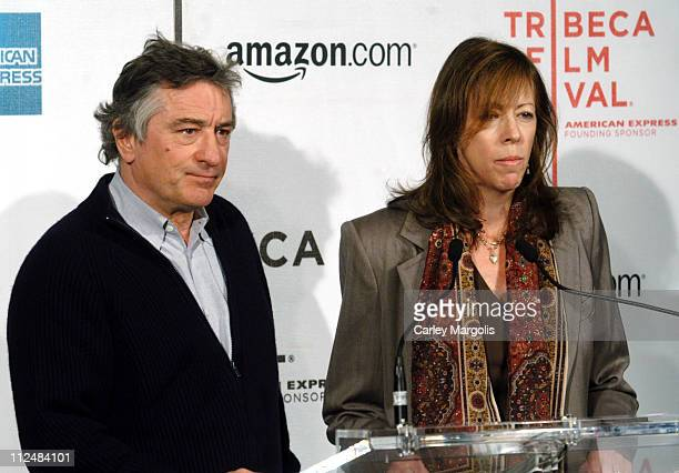 Robert De Niro and Jane Rosenthal cofounders of the Tribeca Film Festival