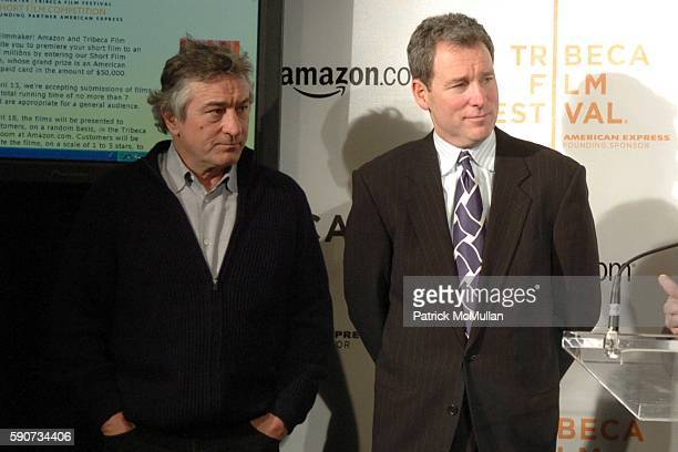 Robert De Niro and John Hayes attend The Tribeca Film Festival Announces New Collaborative Partnership with American Express and Amazoncom at Tribeca...