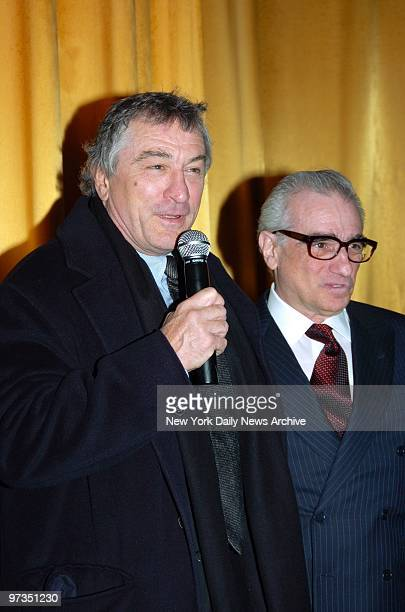 Robert De Niro and Martin Scorsese get together at the Ziegfeld Theater for a special screening to celebrate the 25th anniversary of 'Raging Bull'...