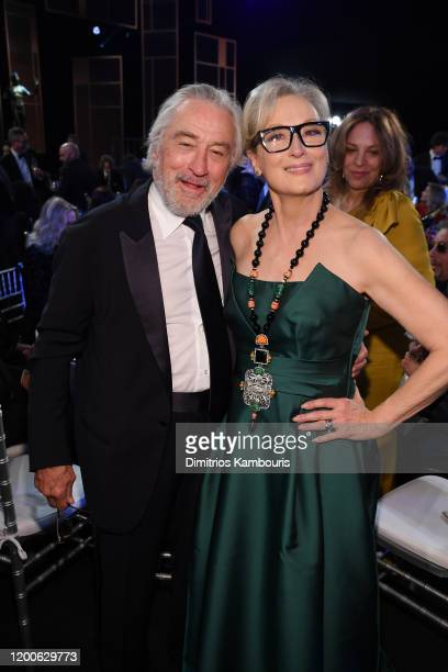 Robert De Niro and Meryl Streep attend the 26th Annual Screen Actors Guild Awards at The Shrine Auditorium on January 19 2020 in Los Angeles...