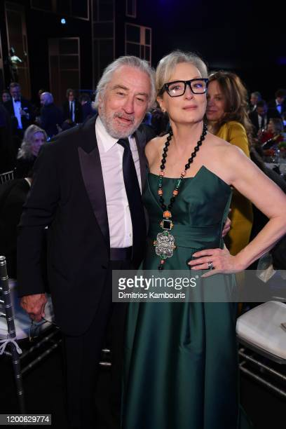 Robert De Niro and Meryl Streep attend the 26th Annual Screen ActorsGuild Awards at The Shrine Auditorium on January 19 2020 in Los Angeles...