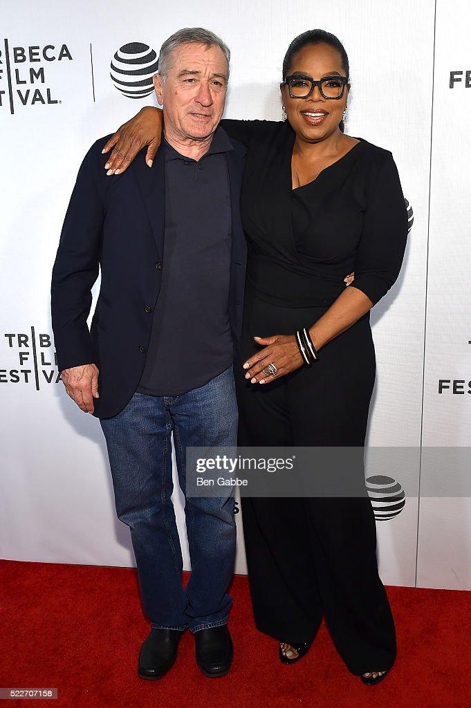 Robert De Niro and Oprah Winfrey attend the Tribeca Tune In: Greenleaf at BMCC John Zuccotti Theater on April 20, 2016 in New York City.