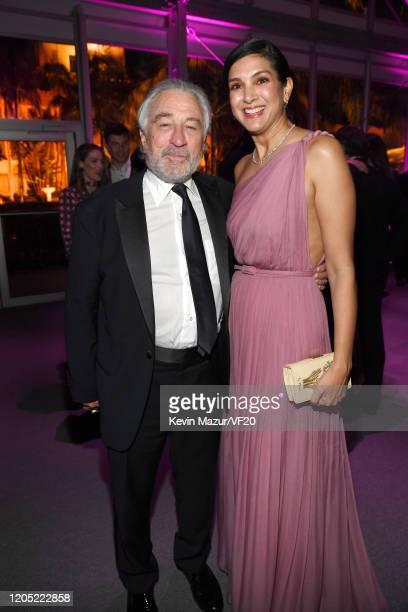 Robert De Niro and Vanity Fair EditorinChief Radhika Jones attend the 2020 Vanity Fair Oscar Party hosted by Radhika Jones at Wallis Annenberg Center...