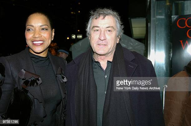 Robert De Niro and wife Grace Hightower attend a special screening of the movie 'Hide and Seek' at the Beekman Theatre He stars in the film
