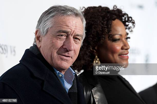 Robert De Niro and wife Grace Hightower attend the 2014 Tribeca Film Festival Opening Night Premiere of Time Is Illmatic at The Beacon Theatre on...