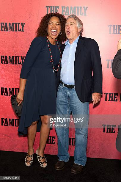 Robert De Niro and wife Grace Hightower attend The Family World Premiere at AMC Lincoln Square Theater on September 10 2013 in New York City