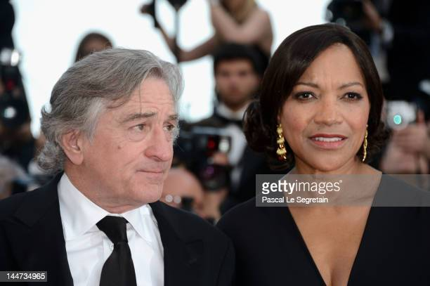 Robert De Niro and wife Grace Hightower attend the 'Once Upon A Time' Premiere during 65th Annual Cannes Film Festival during at Palais des Festivals...