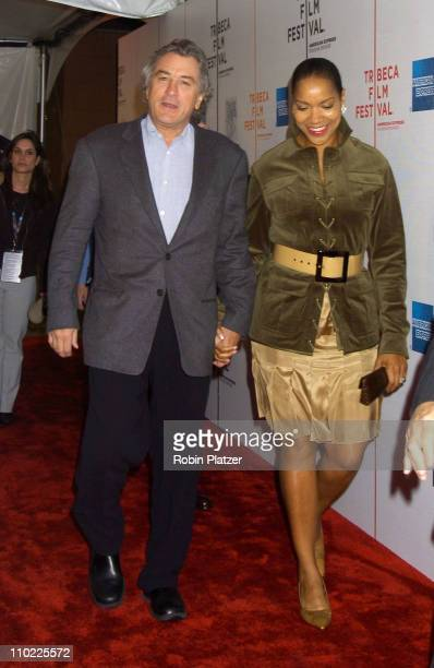 Robert De Niro and wife Grace Hightower during 4th Annual Tribeca Film Festival 'The Muppets' Wizard of Oz' Premiere at The Tribeca Performing Arts...