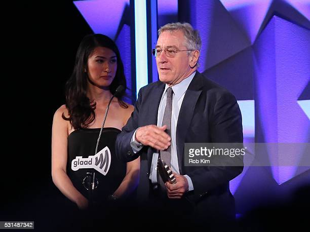 Robert De Niro appears on stage during the 27th Annual GLAAD Media Awards at The Waldorf=Astoria on May 14 2016 in New York City
