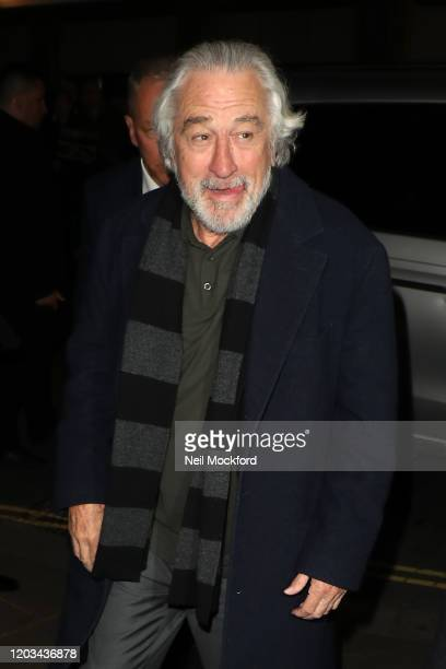 Robert De Niro arrives for the Charles Finch CHANEL PreBAFTA Party at 5 Hereford Street on February 01 2020 in London England