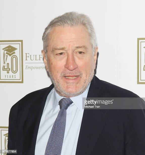 Robert De Niro attends A Legacy of Changing Lives presented by The Fulfillment Fund held at The Ray Dolby Ballroom at Hollywood Highland Center on...