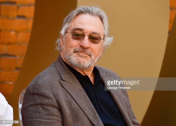 Robert De Niro attends Nobu Toronto Groundbreaking Ceremony held at Nobu Sales Centre on June 11 2018 in Toronto Canada on June 11 2018