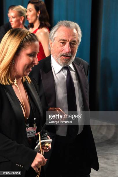 Robert De Niro attends the 2020 Vanity Fair Oscar party hosted by Radhika Jones at Wallis Annenberg Center for the Performing Arts on February 09...