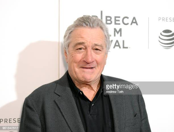 Robert De Niro attends the DIRECTTV Premiere Of Women Walks Ahead At 2018 Tribeca Film Festival on April 25 2018 in New York City