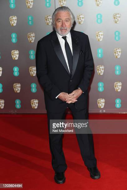 Robert De Niro attends the EE British Academy Film Awards 2020 at Royal Albert Hall on February 02 2020 in London England