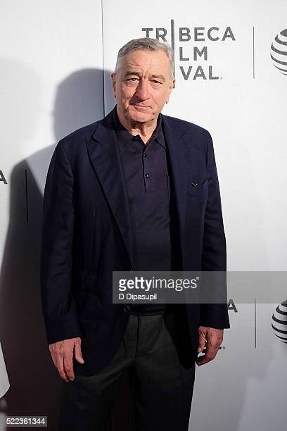 """Robert De Niro attends the """"Equals"""" premiere during the 2016 Tribeca Film Festival at John Zuccotti Theater at BMCC Tribeca Performing Arts Center on..."""