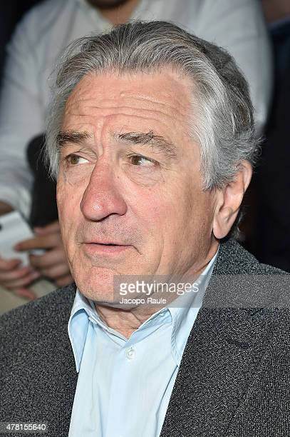 Robert De Niro attends the Giorgio Armani show during the Milan Men's Fashion Week Spring/Summer 2016 on June 23 2015 in Milan Italy