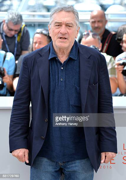 Robert De Niro attends the 'Hands Of Stone' Photocall at the annual 69th Cannes Film Festival at Palais des Festivals on May 16 2016 in Cannes France