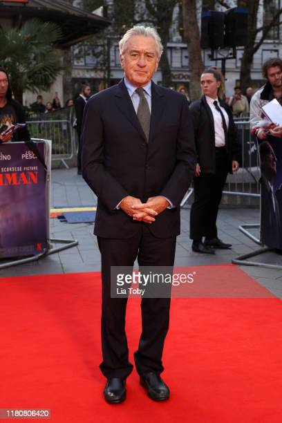 Robert De Niro attends The Irishman International Premiere and Closing Gala during the 63rd BFI London Film Festival at the Odeon Luxe Leicester...