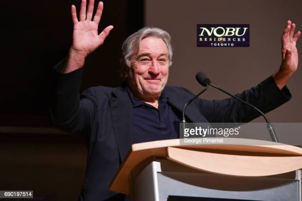 Robert De Niro attends the Nobu Residences Toronto unveiling plans with Nobu hospitality presentation at Roy Thomson Hall on May 30 2017 in Toronto...