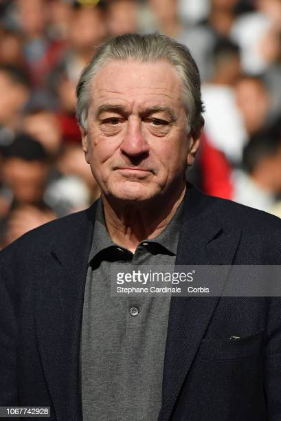 Robert De Niro attends the screening of The Untouchables at Jemaa El Fna Place during 17th Marrakech International Film Festival on December 2 2018...