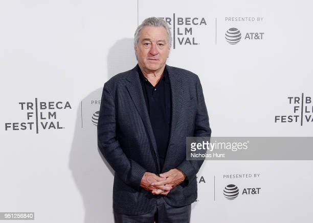 Robert De Niro attends the Screening of Woman Walks Ahead 2018 Tribeca Film Festival at BMCC Tribeca PAC on April 25 2018 in New York City