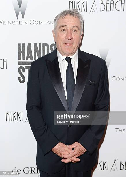 Robert De Niro attends The Weinstein Company's HANDS OF STONE After Party In Partnership With De Grisogono At Nikki Beach Carlton Beach Club on May...