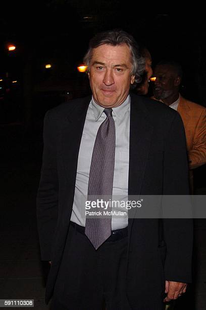 Robert De Niro attends Vanity Fair hosts their Tribeca Film Festival dinner at The State Supreme Courthouse on April 20 2005 in New York City