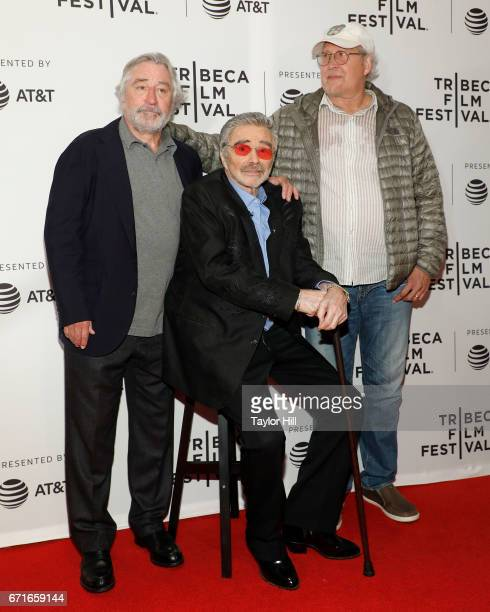 Robert De Niro Burt Reynolds and Chevy Chase attend the premiere of 'Dog Years' during the 2017 Tribeca Film Festival at Cinepolis Chelsea Cinemas on...