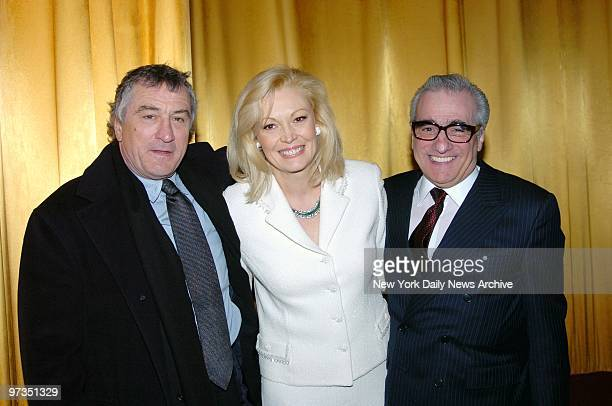 Robert De Niro Cathy Moriarty and Martin Scorsese get together at the Ziegfeld Theater for a special screening to celebrate the 25th anniversary of...