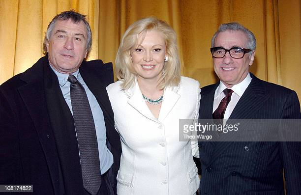 Robert De Niro Cathy Moriarty and Martin Scorsese