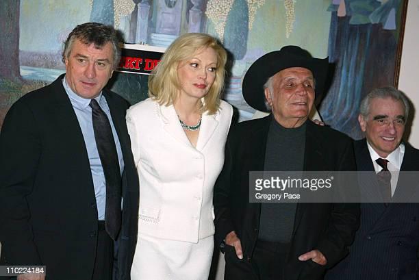 Robert De Niro Cathy Moriarty Jake LaMotta and Martin Scorsese