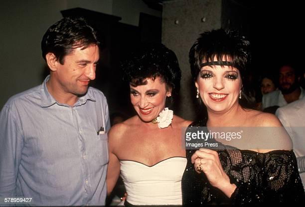 Robert De Niro Chita Rivera and Liza Minnelli circa 1984 in New York City