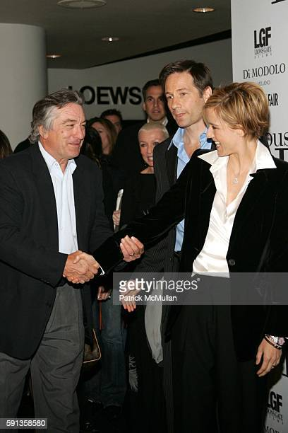 Robert De Niro David Duchovny and Tea Leoni attend 'House of D' New York Premiere at Loews Lincoln Square on April 10 2005 in New York City