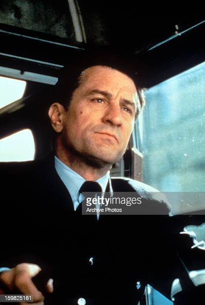 Robert De Niro driving a bus in a scene from the film 'A Bronx Tale' 1993
