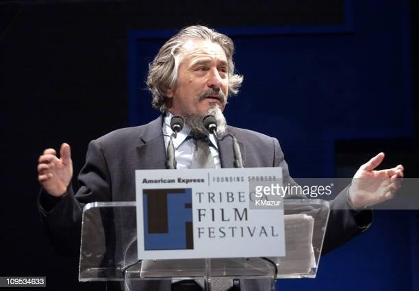 Robert De Niro during 2003 Tribeca Film Festival - Awards Ceremony at Stuyvesant High School Auditorium in New York City, New York, United States.